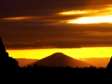 Sunset Over Black Butte, Deschutes County, Oregon